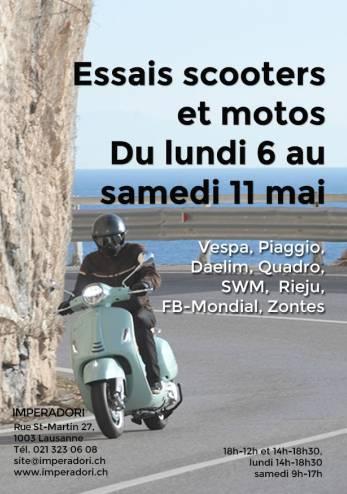Essais motos et scooters Imperadori :: 06-11 mai 2019 :: Agenda :: ActuMoto.ch