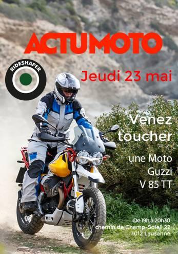 Venez toucher une Moto Guzzi V85 TT :: 23 mai 2019 :: Agenda :: ActuMoto.ch