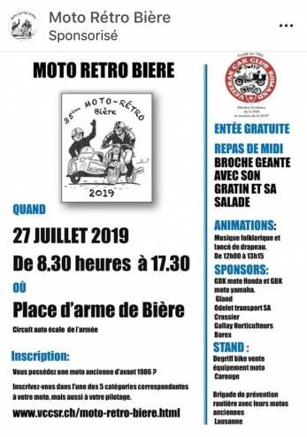 Moto Rétro Bière :: 27 juillet 2019 :: Agenda :: ActuMoto.ch